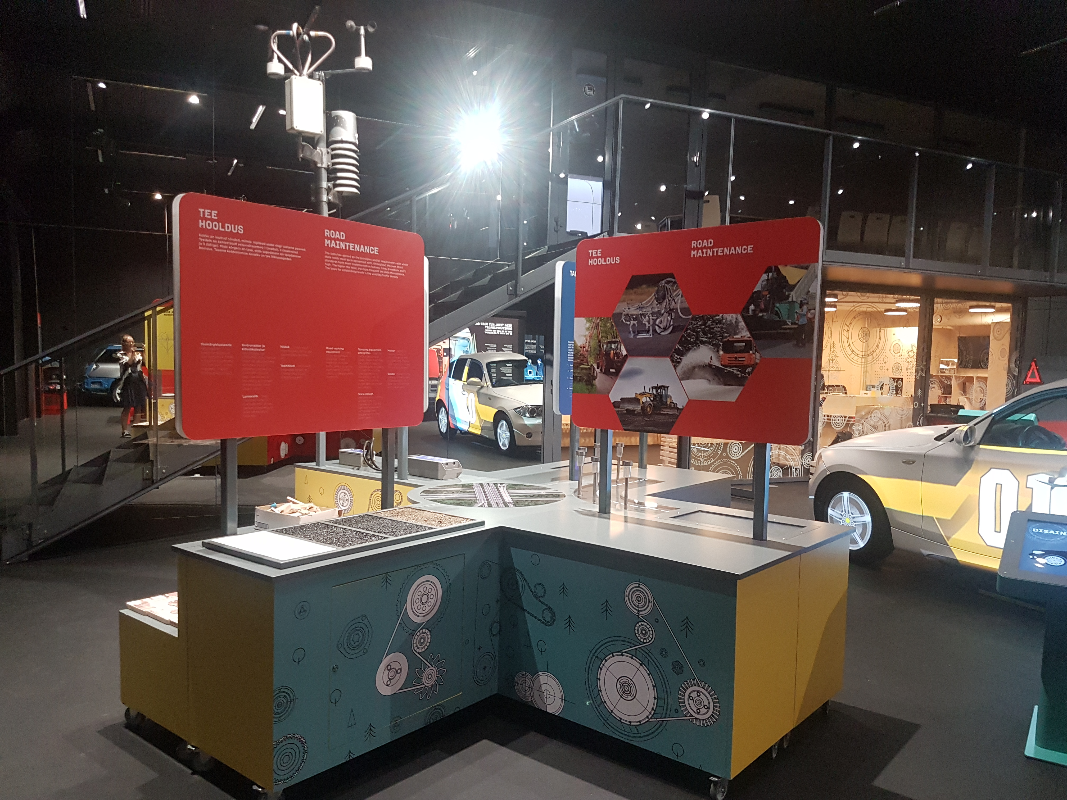 Machinery hall presentation of the exhibition